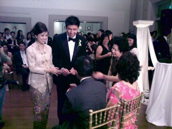 Tea ceremony: Eunice and Colin
