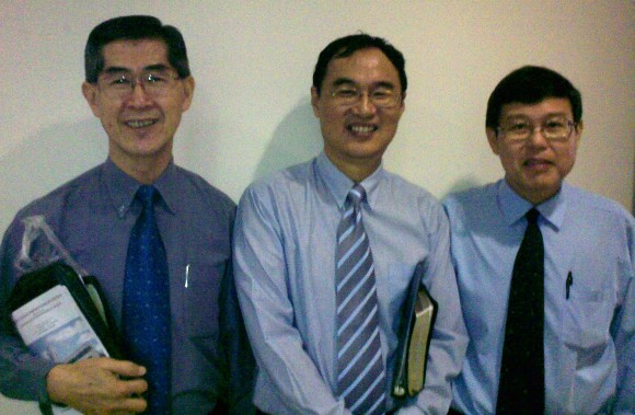 Rev James Seah, Kenny Chee, Eric Chua (ps-in-charge)