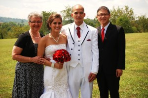 Esther and Choby with parents