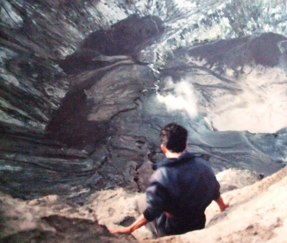into the sacrificial mouth of Mt Bromo