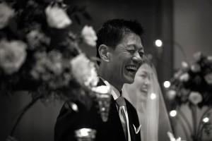Happy father, Abe Sim