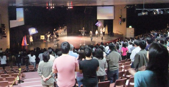 worship at Faith Community Church, Perth
