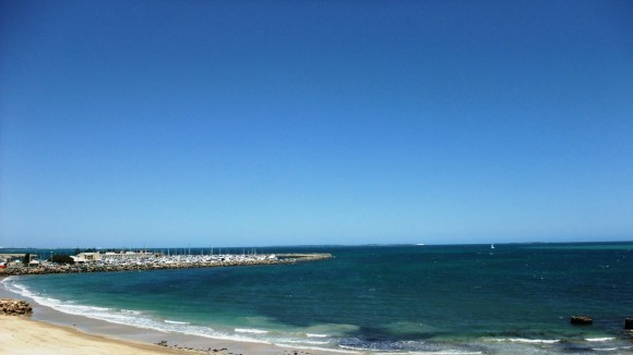 viewing the marina from the Round House, Fremantle