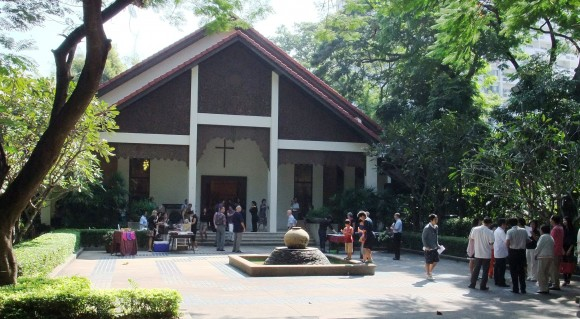 outdoor fellowship hall