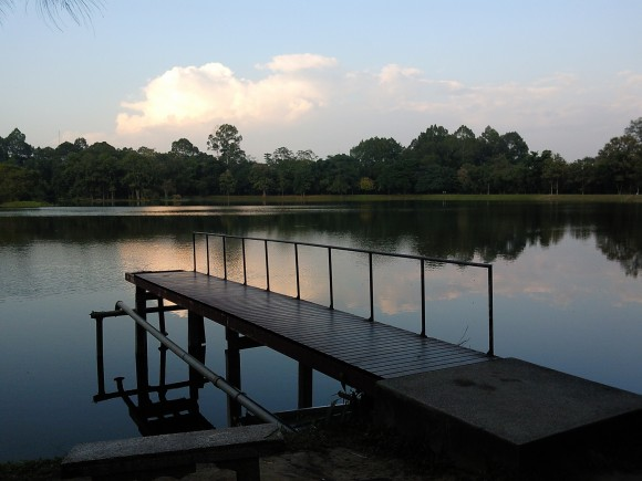 Chiang Mai University lake jetty