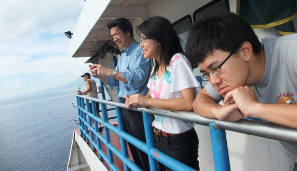 On ferry back from Dumagete, Negros