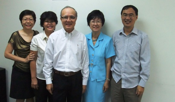 Jenny, Aileen, Pastor Ang Chui Cheng, Pastor Ang Siew Khim, Kenny