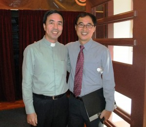 Rev Canon Daniel Tong and Kenny