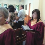 singing in procession
