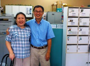 Ee Yiung and Kenny at EAST office