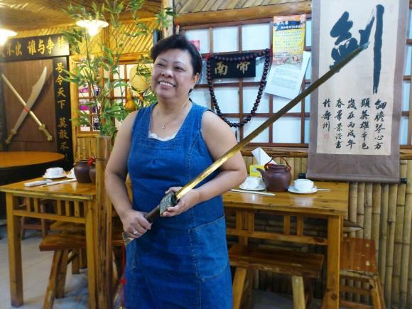 Sword wielding modern pugilist, Tammy Tang
