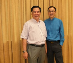 Pastor Peter Chang and me