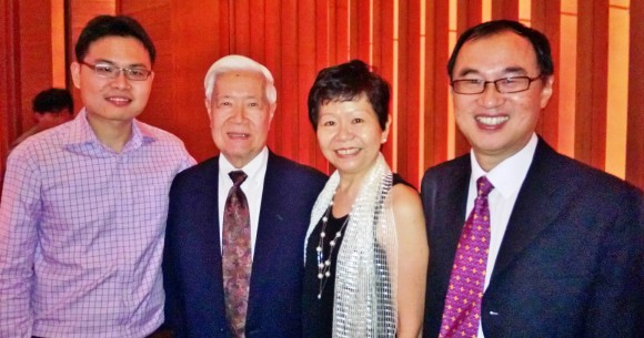 Josh, Prof Lawrence Chan, my wife and I