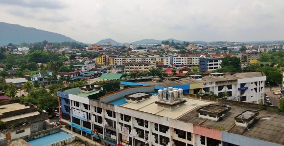 overlooking Kluang, Johor from Hotel Anika