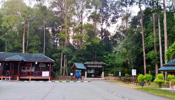 At the entrance of Gunung Belumut trek