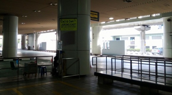 Bus stand at Singapore customs