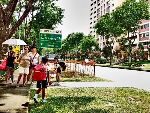 My children waited for the Pei Hwa Presbyterian Primary School bus here