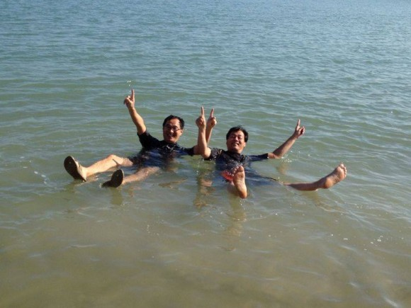 Enjoying the Dead Sea (photo: Tiffany)