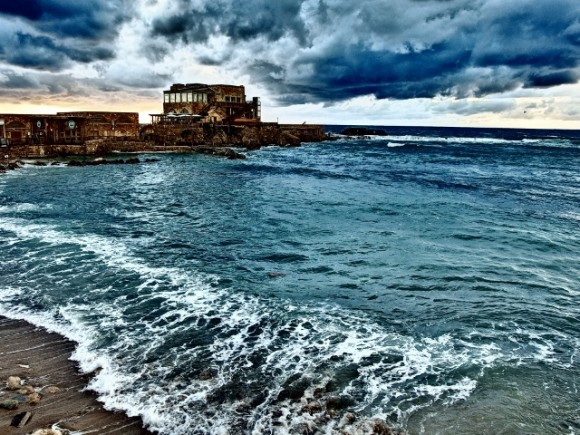 Caesarea by the sea: stormy and wild