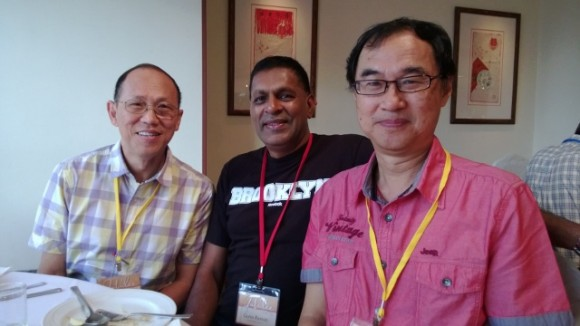 Chance meeting with pastors Lawrence and Guna