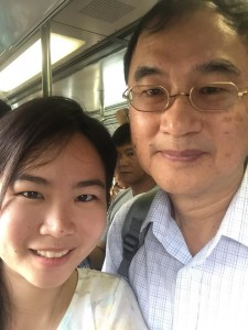 Daughter mentoring father on MRT tactics