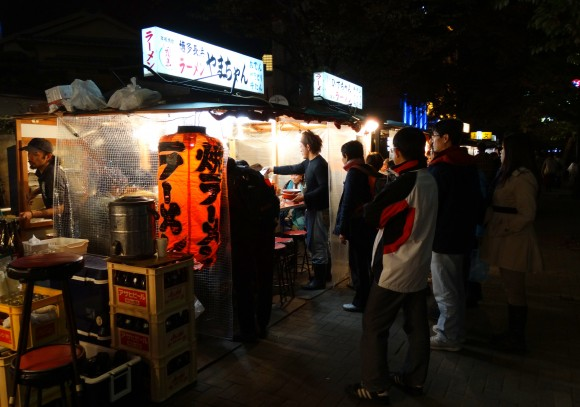 """Yatai"" - small mobile street food stall set up in evening and moved by morning"