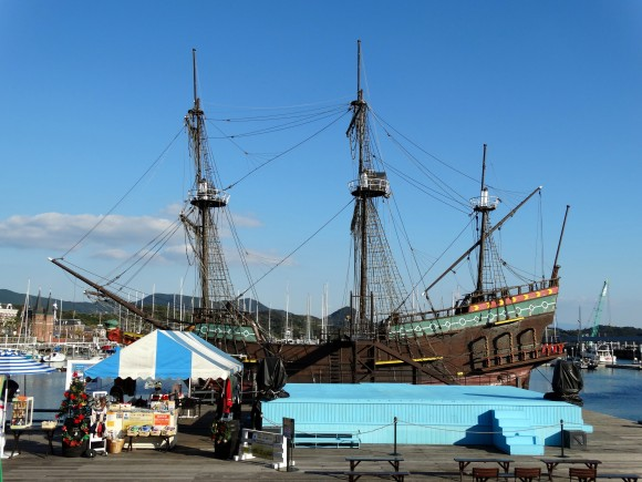 Huge replica of colonial Dutch ship