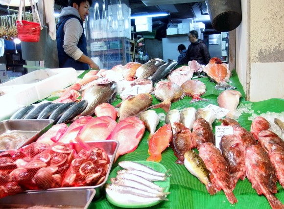 The dry market sells mainly fresh fish