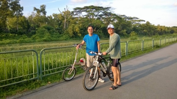 Kenny and Eric Ng on Ulu Pandan Park Connector