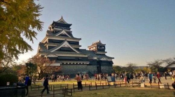 Majestic Kumamoto Castle - one of a few major heritage castles of Japan.