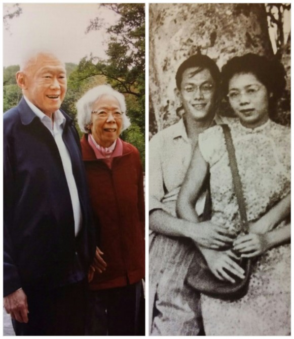 LKY and his wife: a loving couple