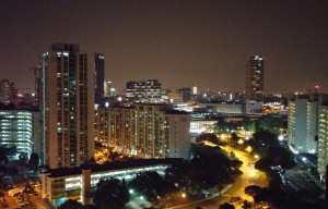 The view at night from another window
