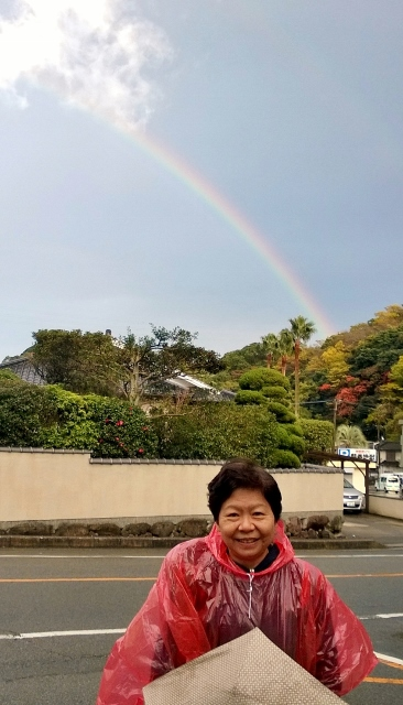 The rainbow after the gentle rain