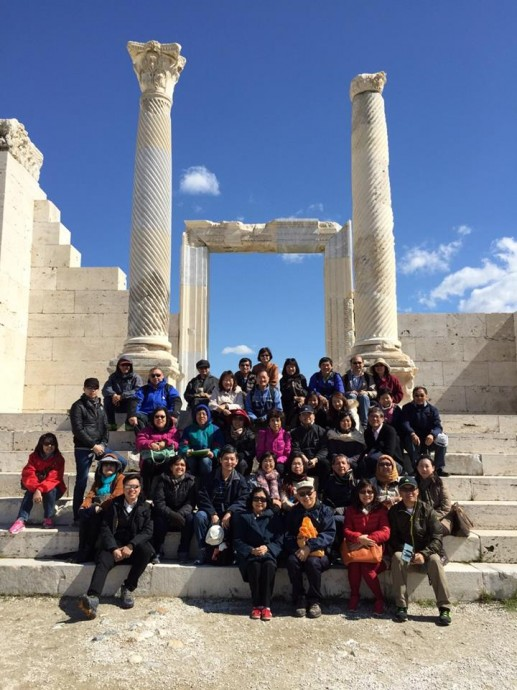The group picture taken at ancient Laodicea