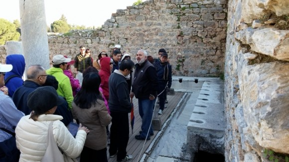 Excellent informative guide telling us about ancient Ephesus toilets that St Paul probably used!