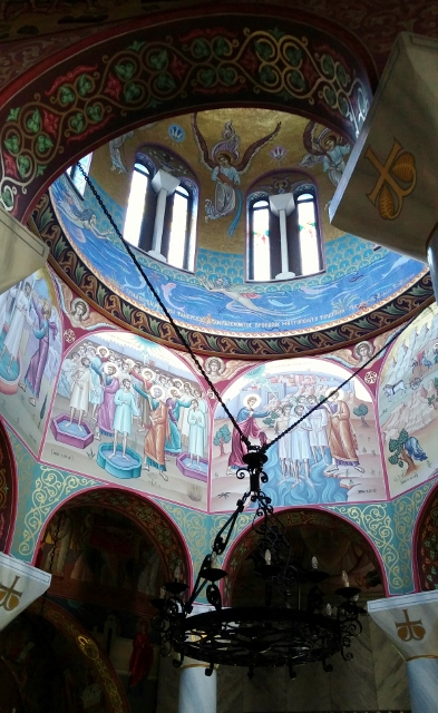 Beautiful chapel that celebrates Lydia's conversion in Philippi (Greece)