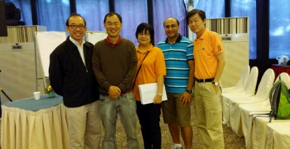 Rev Vincent Goh (Ps in charge), myself, Rev Mee Hee, Jeremiah, and Stanley