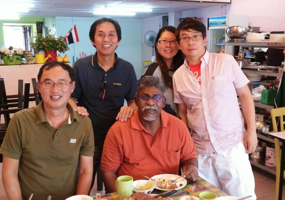 Lunch with Pastor Thomas, Pastor Amos, Agnes and Mark Chua