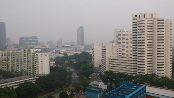 The haze in Jurong East from outside my window on Thursday 10 September 2015.