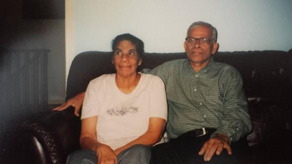 A.M Mathew with his wife Saramma Mathew