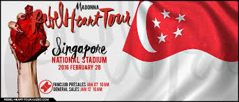Rebel Heart Tour by Madonna in Singapore National Stadium