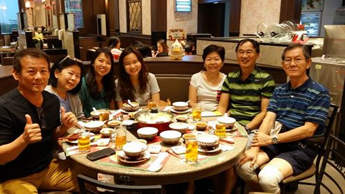 Reunion dinner at MK branch later in the evening at shopping mall