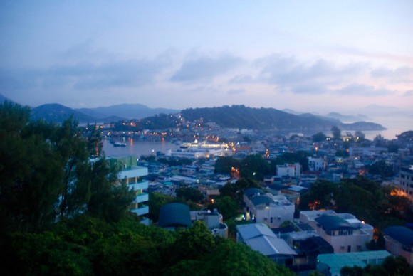 Cheung Chau at dawn.