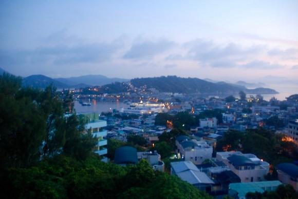 Cheung Chau at dawn.