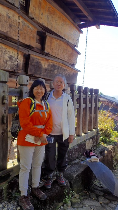 Joy Lian the trip organiser and leader with her ever by her side husband, Simon. It helped greatly that she spoke some Japanese!