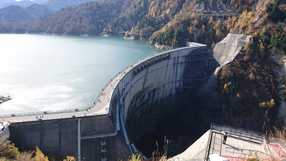 Stunning view of dam from the deck. (Credits: Judith)
