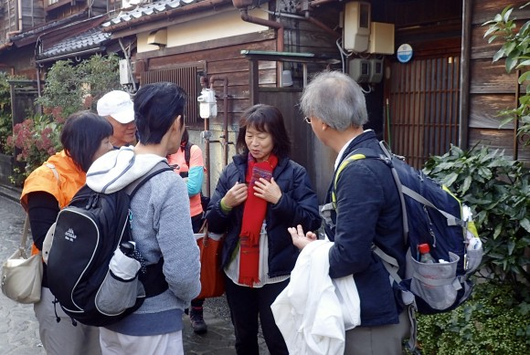 Makiko our volunteer Japanese guide who spoke good English and was very informative and helpful