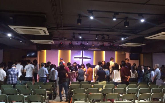 Praying for the cell leaders